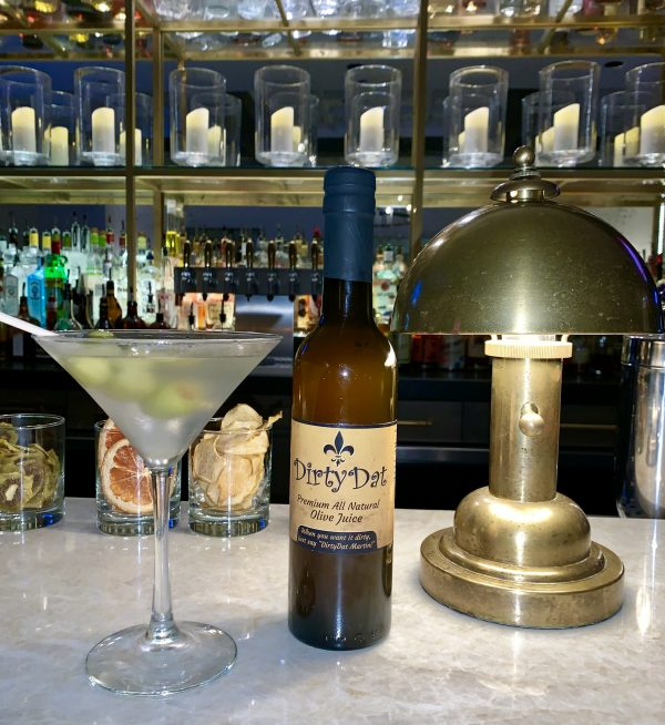 Dirty Dat bottle martini glass
